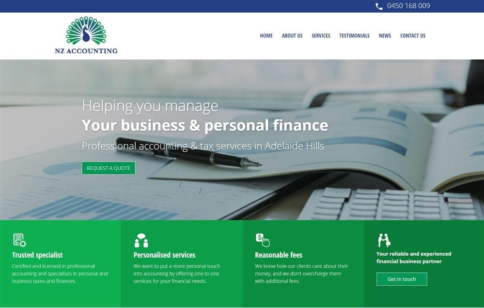 Adelaide Hills Accounting Web Project