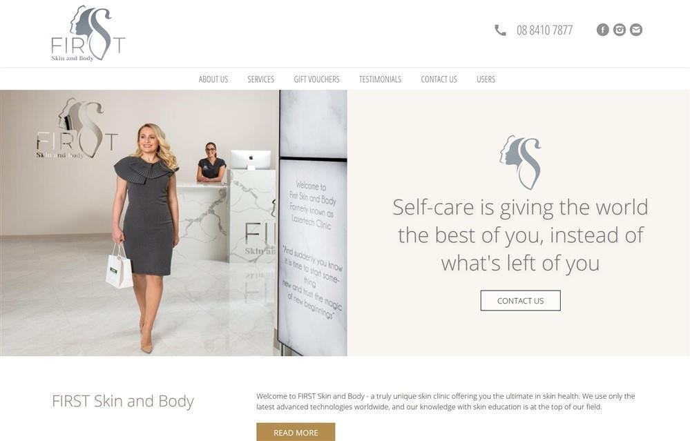 First Skin and Body Website